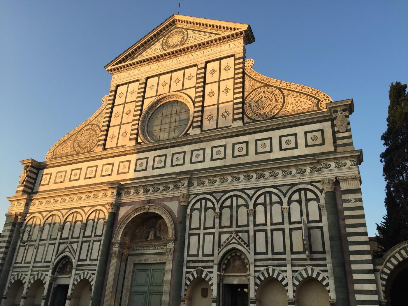 La facciata di Santa Maria Novella